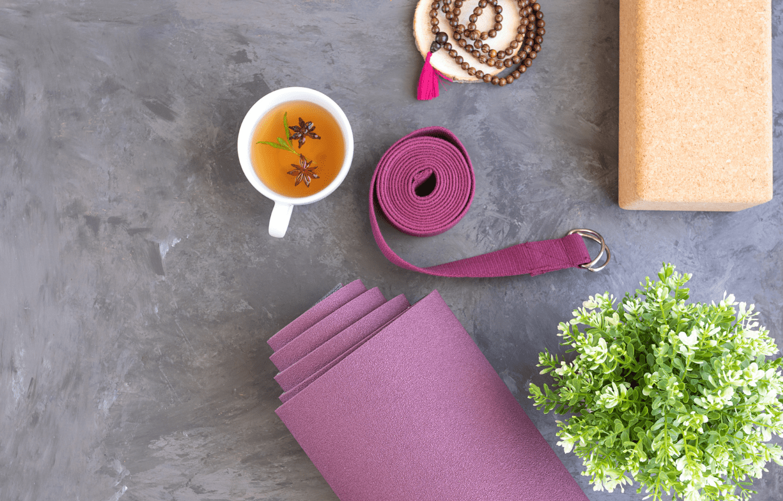Yogamatte Tee Blumen